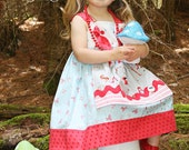 Walking in the Woods... Petal Knot Dress, Custom order, sizes 6 months to size 8