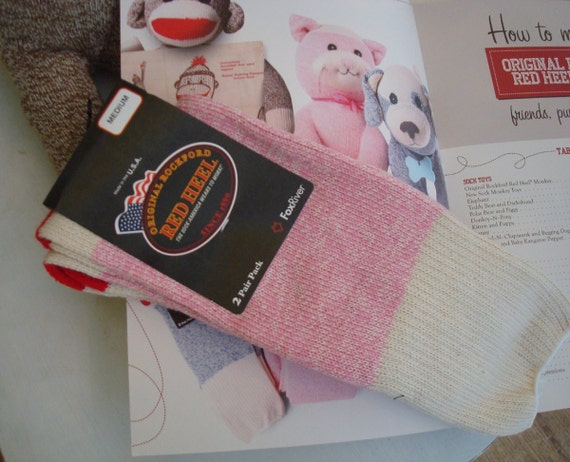 The Original Rockford Red Heel Socks...in Pink...Two Pairs