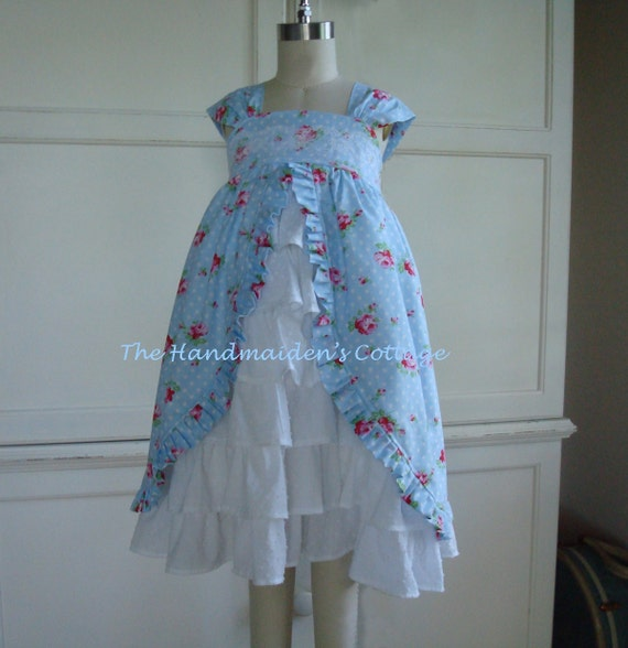 Heirloom Roses Blue....sizes 6 months through size 8