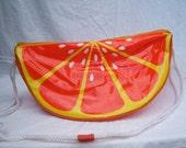 Vintage 70's Novelty Handbag Purse Slice of Orange