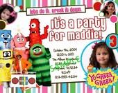 Yo Gabba Gabba Birthday Invitation - Personalized Photo Card - AWESOME - BOY or GIRL