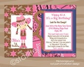 Western Birthday Party Invitation Girl, Cowgirl Birthday Invitation, Girl Pink Birthday Party Invitation, Printable, Printed Invitations