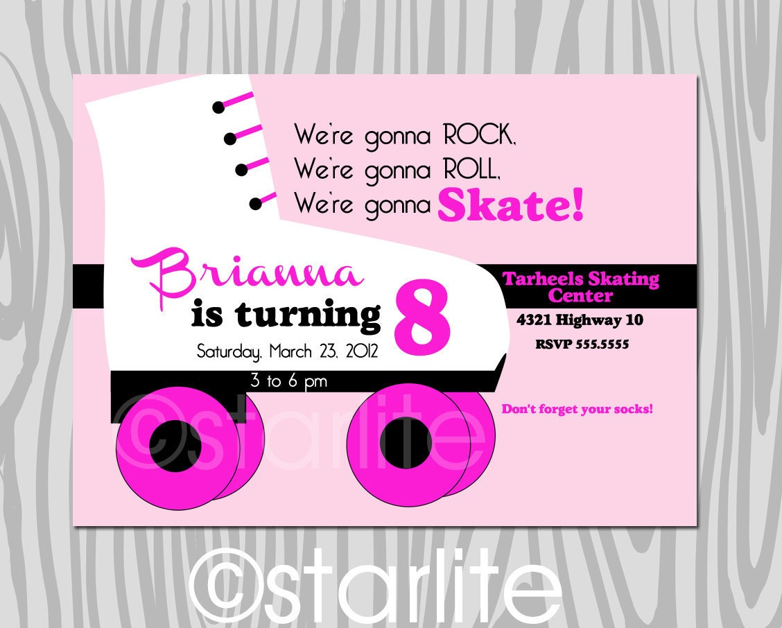 40th Birthday Ideas Roller Skate Birthday Invitation Templates – Roller Skate Birthday Invitations