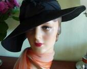 Stylish 1940s FEMME FATALE Fedora Hat