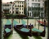 Venice Italy Gondolas  - 8x8 Original Signed Fine Art Photograph