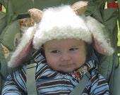 Fiber Fest Knitted Baby Lamb Hat Pattern PDF