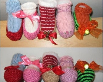 Baby Slipper Bootie Knitting Pattern PDF - Ruby Slippers, Ballet Slippers and variations