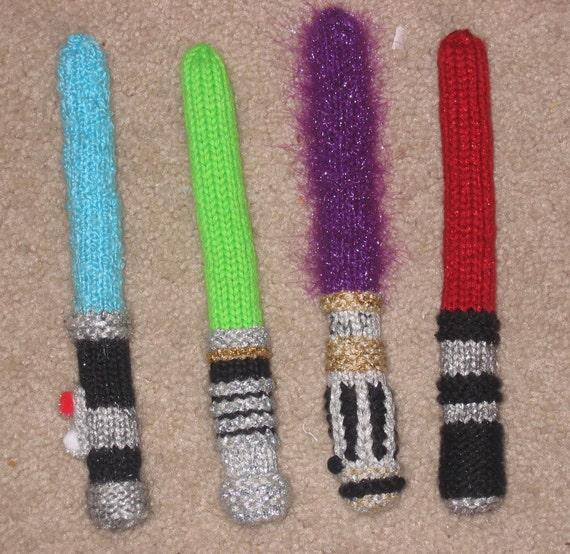 Star Wars Knitting Patterns : Star Wars Knitsabers Pattern PDF by carbonscoring on Etsy