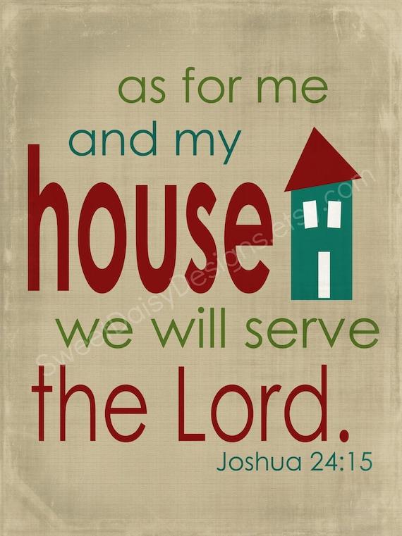 As for me and my house Joshua 24:15 Wall Art Digital Print