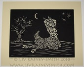 Shub - The Early Years, H.P. Lovecraft pin-up woodcut print