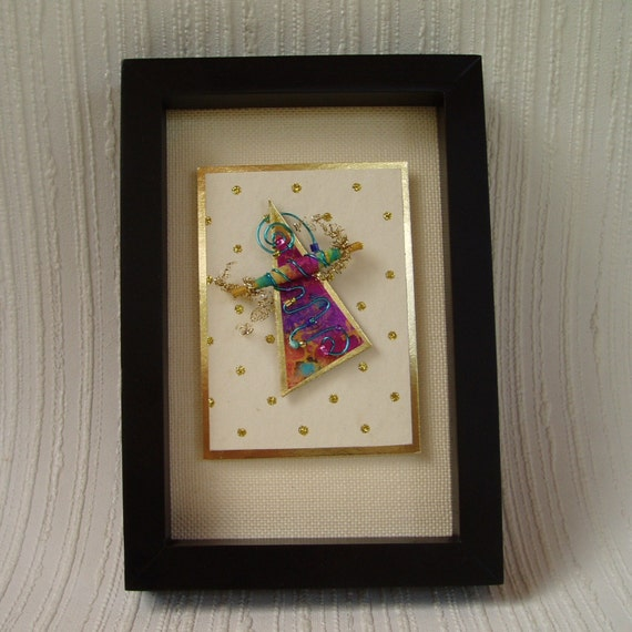 RESERVED for Nannnybee - Party in a Card framed ACEO