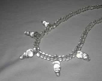 lampwork icicle necklace