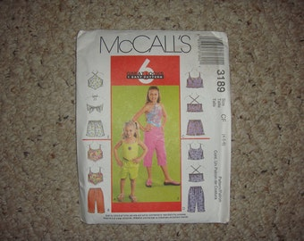McCalls 3189 CF Great Looks 1 Easy Pattern Size 4 through 6 NEW