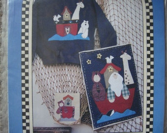 Noahs Ark appliqué Gift Bag Wall Quilt Sewing Pattern by Inspired Creations NEW