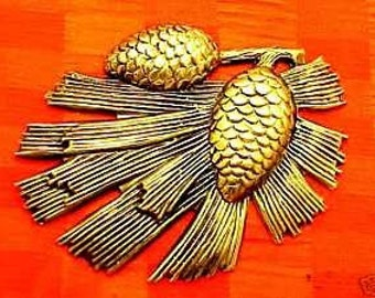 vintage brass findings stampings large pine cone embellishment wholesale lot