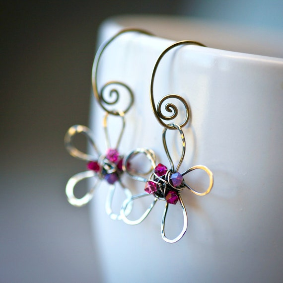 Sterling Silver Wire Wrapped Daisy - MADE TO ORDER