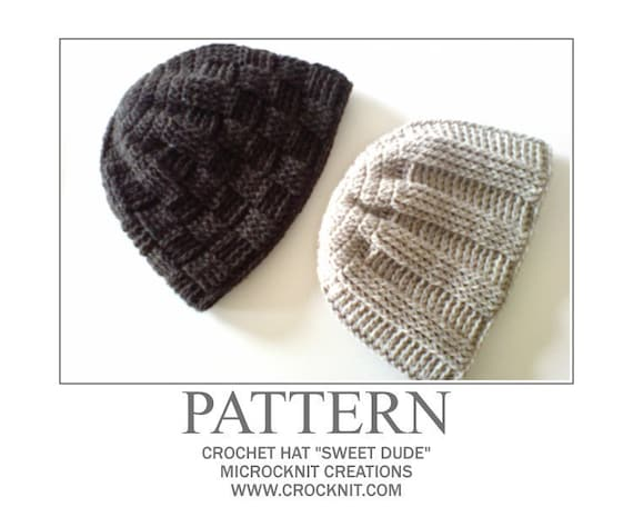 PATTERN Crochet Hat SWEET DUDE Instant download