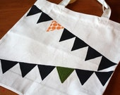 Orange and Green Celebration Bunting Tote