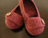 Felted Slippers - Adult SMALL - Ruby Heather