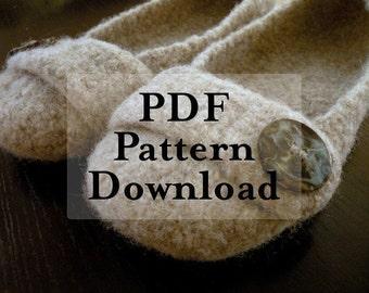PDF Pattern Download - Felted Crochet Slippers