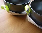 Zakka Leaf Tea Pot Lid Holder and Coaster Set