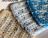 Immediate Instant Download Eco Friendly Scrubbie Sponge Crochet Pattern plarn cotton DIY tutorial tut do it yourself how to pdf file