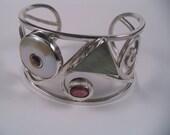 Sterling silver Bracelet Tourmaline Pearl