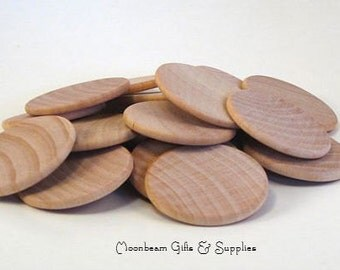 """1.5"""" Unfinished Wood Coins, Unfinished Wood Discs, Larping Supply, Memory Game Disk, Chore Chart, Unfinished Wood Circle, Set of 50"""