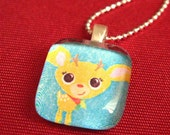 Little Cheeky Bambino - Glass Tile Pendant Necklace