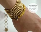 SALE Aphrodite mesh golden bracelet