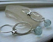 SALE  Sterling silver and Fluorite Earrings