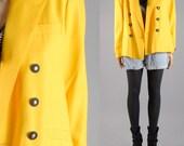 vintage 80s canary yellow BOYFRIEND BLAZER coat womens m/l