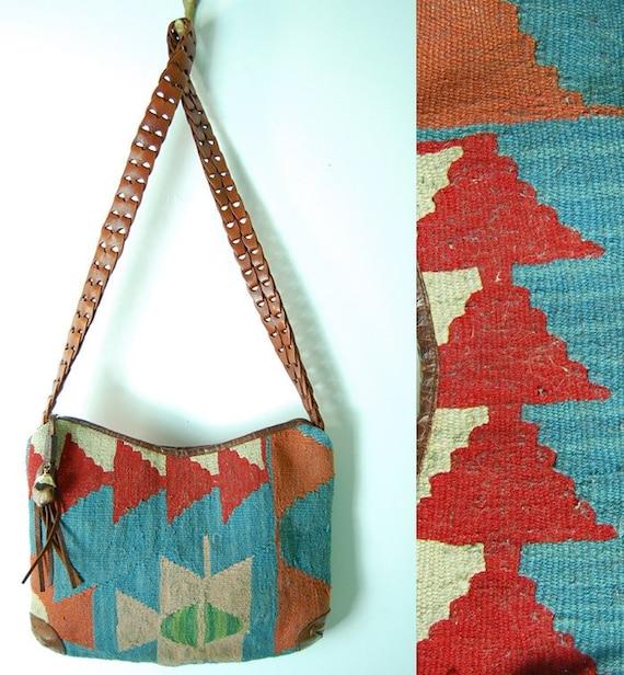 vintaage tribal print tapestry purse