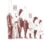 Family Line-up tea towel