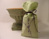 25 Favor Bags Lavender Sprigs Print