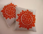 Orange Sunflower Print Sachets