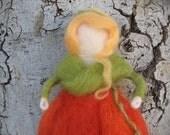 Needle Felted Waldorf (Fairy) Fairytale Pumpkin Maiden