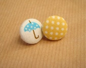 Come Rain or Shine...button earrings