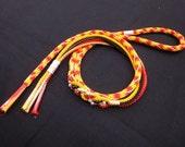 Japanese Kimono Silk OBIJIME Kumihimo Handtied cord for Kimono Obi