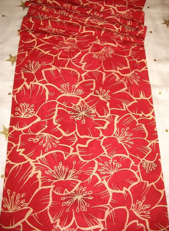 Vintage Japanese Kimono Silk Lovely Bold Flowers Big Poppy Flowers Blossom 60ins long
