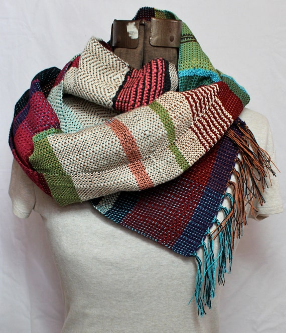 Kendra- Multicolored Striped Handwoven Scarf