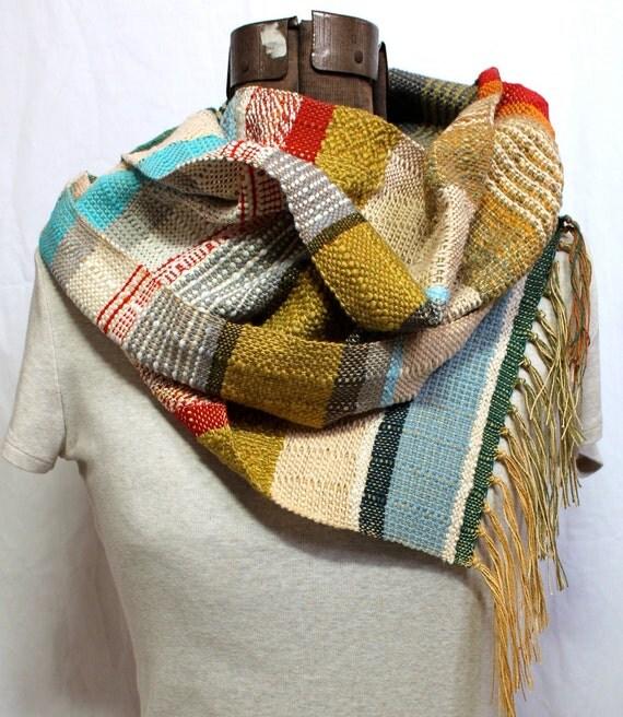 Louisa- Handwoven Skinny Striped Scarf