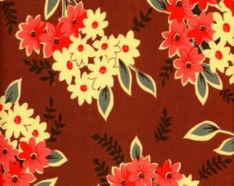 Free Spirit Denyse Schmidt County Fair Daisy Bouqet Berry Fabric