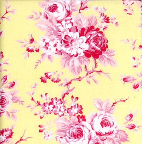 Free Spirit Tanya Whelan Darla Picnic Rose Yellow Fabric