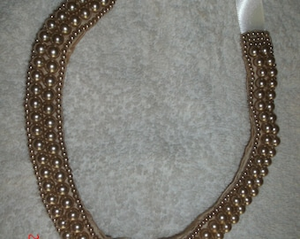 VINTAGE PEARL CHOKER Japan wear it or use for crafting Reduced