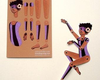 Circus Folk DIY Paper Doll, Rosie