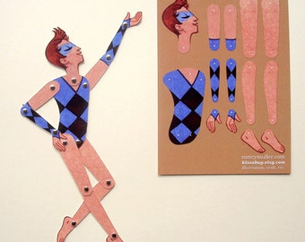 Circus Folk DIY Paper Doll, Rooster