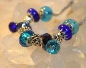 OOAK Designer Pandora Style Bracelet Water Muse