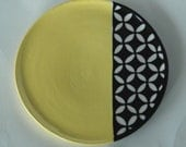 Small Yellow Plate
