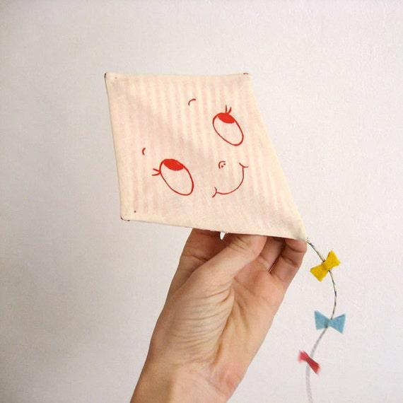 Valentine's greeting card. Kite - One-of-a-kind handmade Happy Kite.
